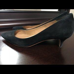 Jcrew factory suede kitten heels pumps!